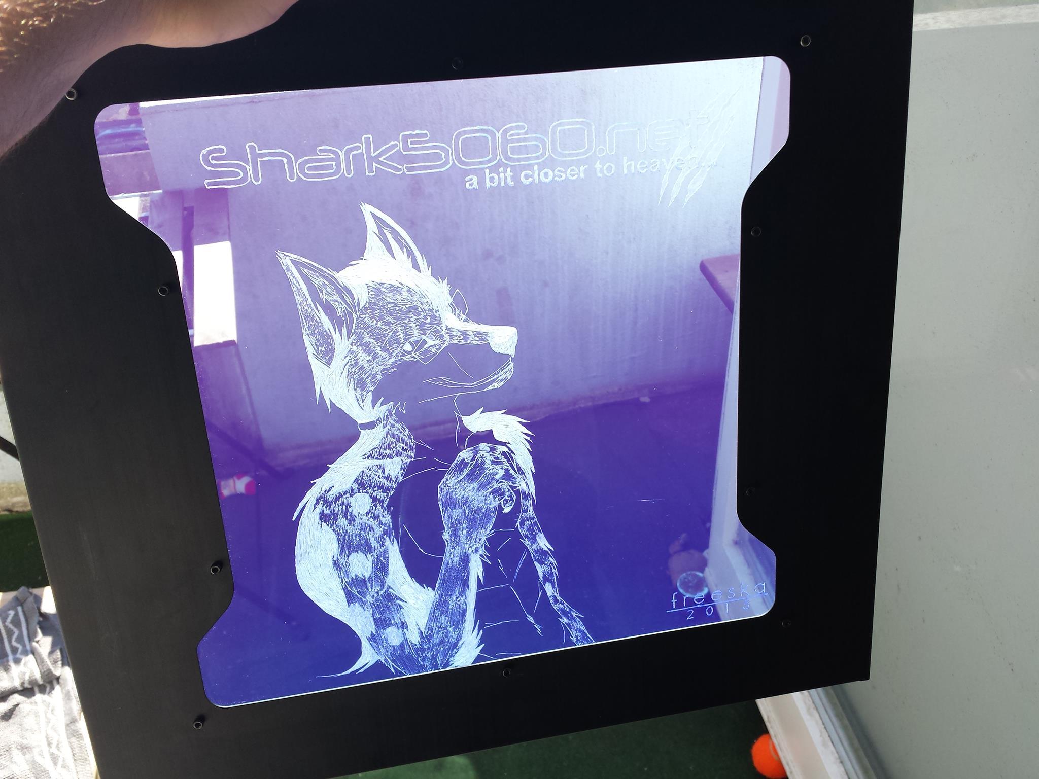 Shockwave v3 Fenstergravur fertig