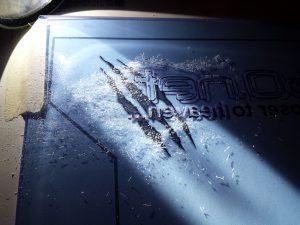 Shockwave v3 window engraving