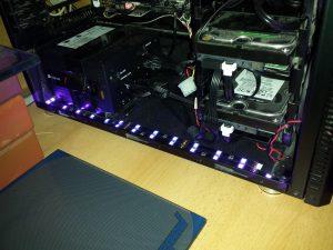 Shockwave v3 UV LED stripe installed