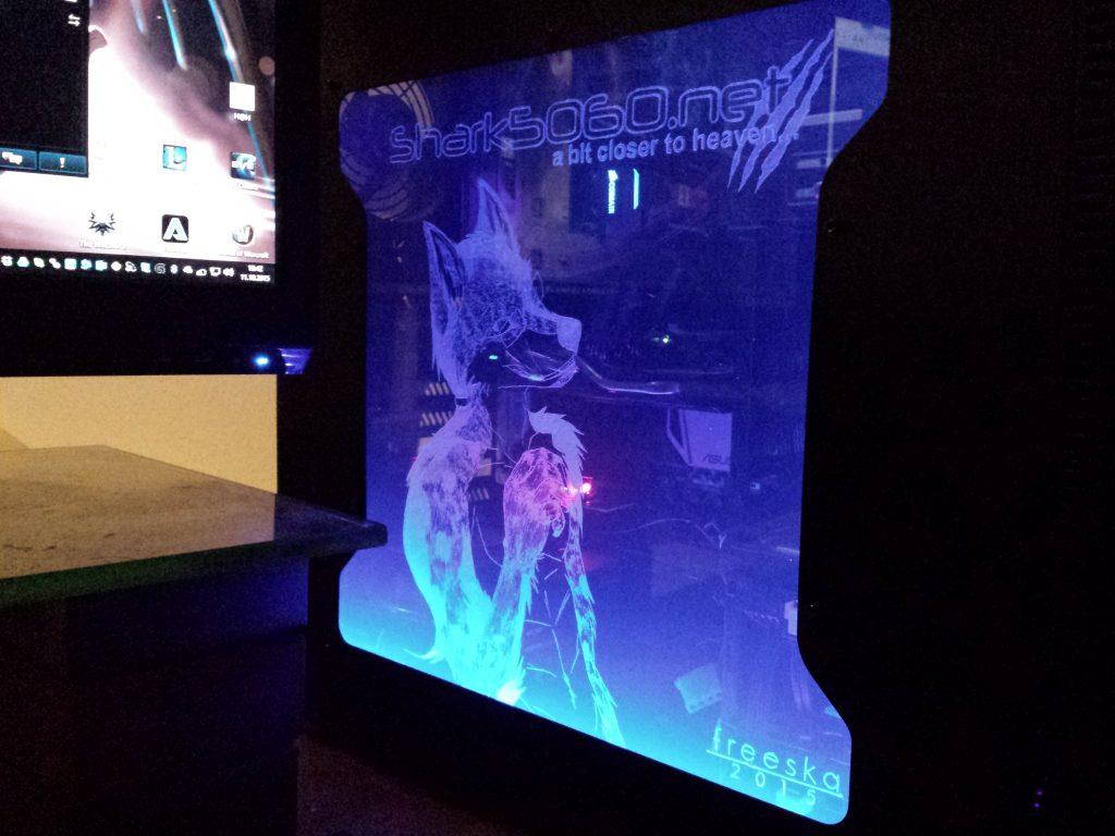 Shockwave v3 illuminated side view