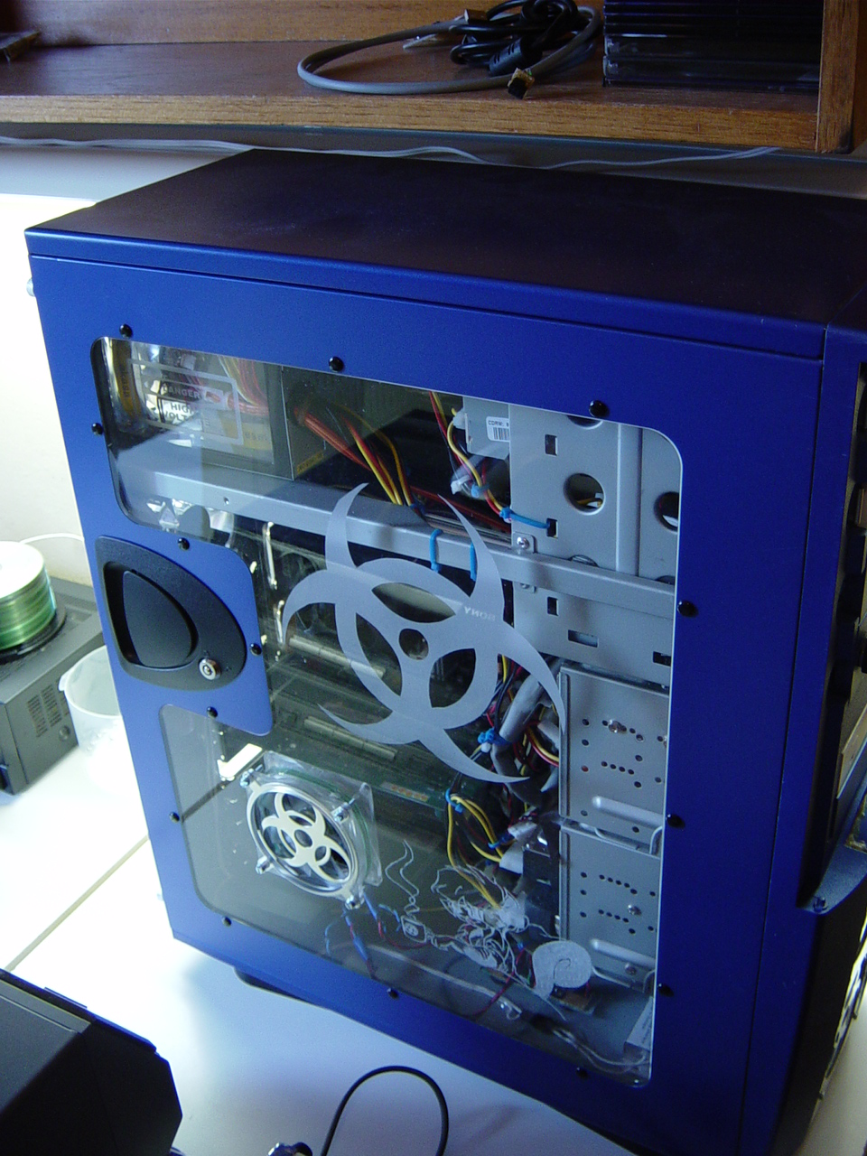 Arctic Blue v1 side panel