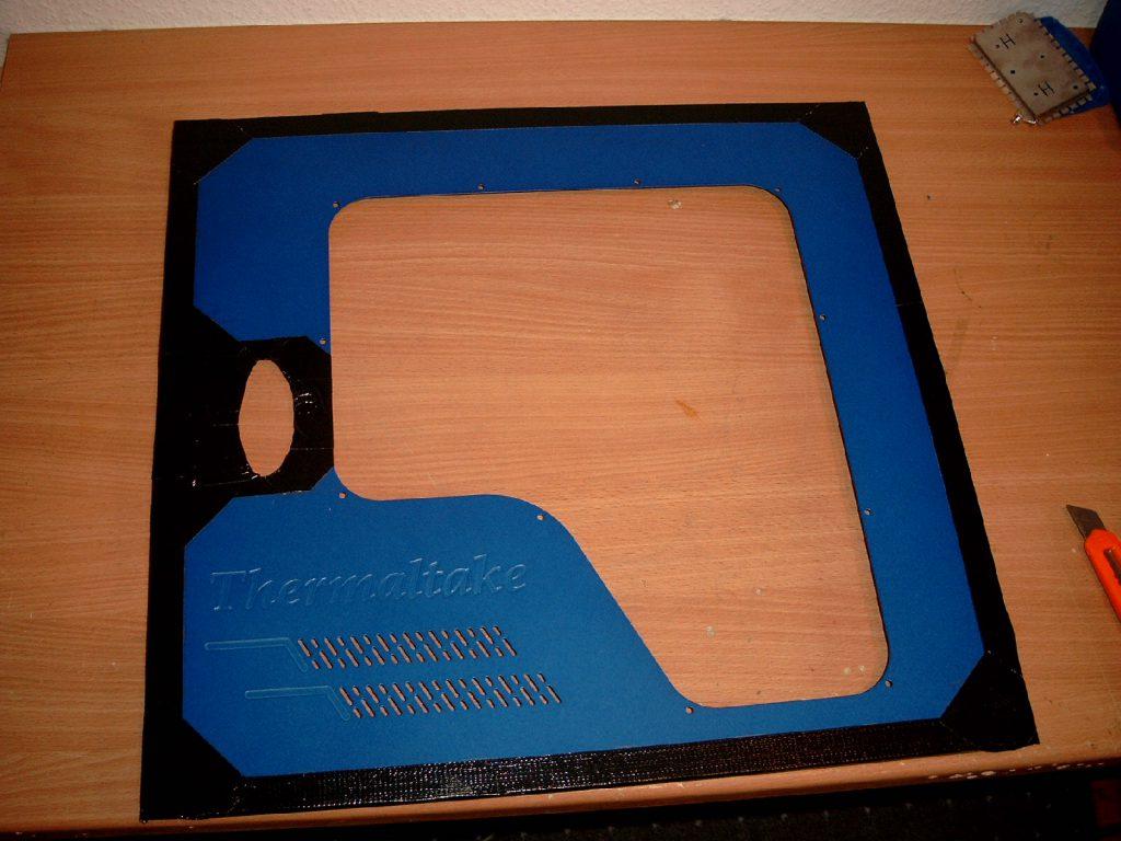 Arctic Blue v2 masked off side panel